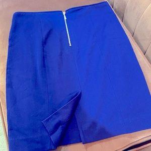 Cobalt Pencil Skirt